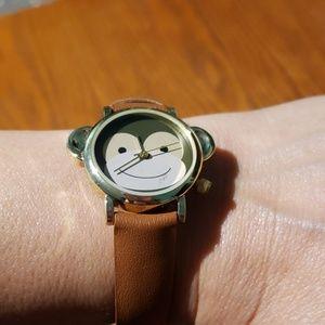 NWOT Monkey face watch